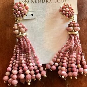 Kendra Scott Pink Cecily Earrings - CLIP-ON